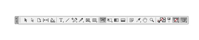 scissors tool indesign