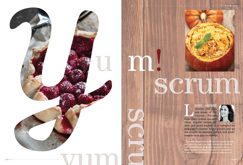 magazine layout design indesign typography