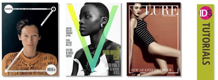 magazine cover design 3D effect