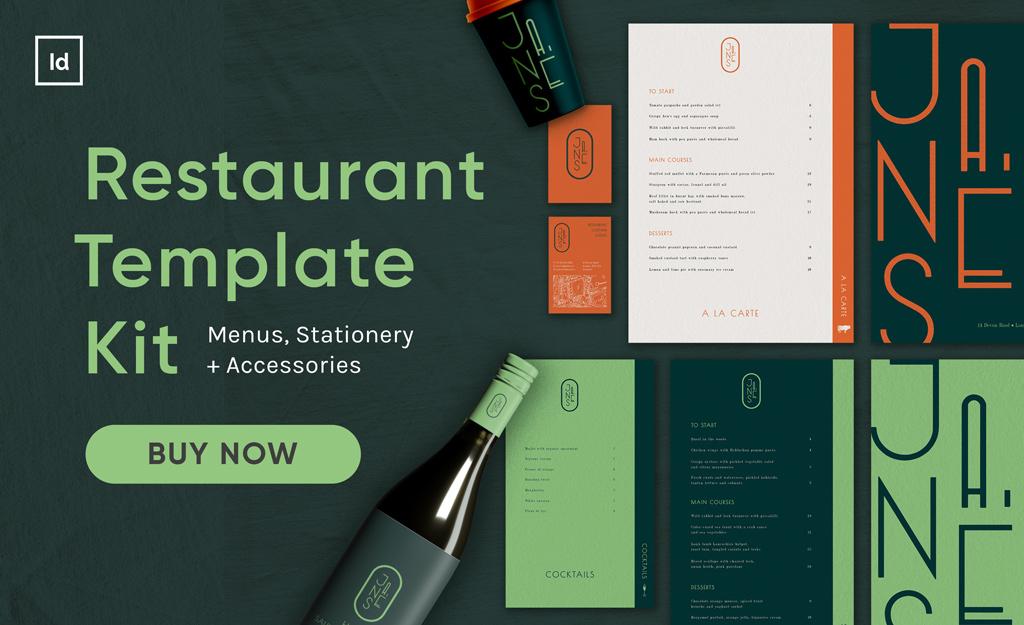 restaurant template kit indesign template kit template bundle menu template restaurant menu design bar menu cafe menu wine label