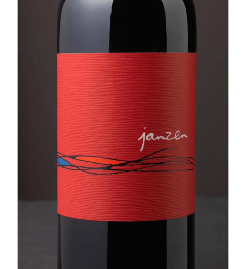 Janzen wine bottle label design indesign