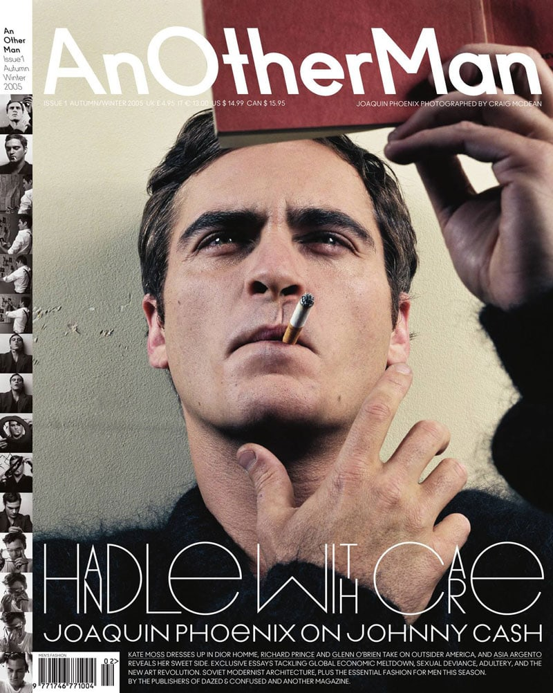 typography fonts for magazines fashion mens AnOtherMan Another Man