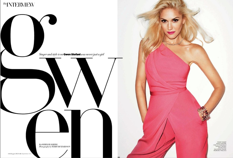 typography fonts for magazines fashion harper's bazaar magazine