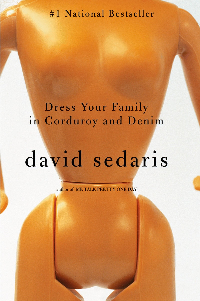 david sedaris dress your family in corduroy and denim typography fonts for book covers