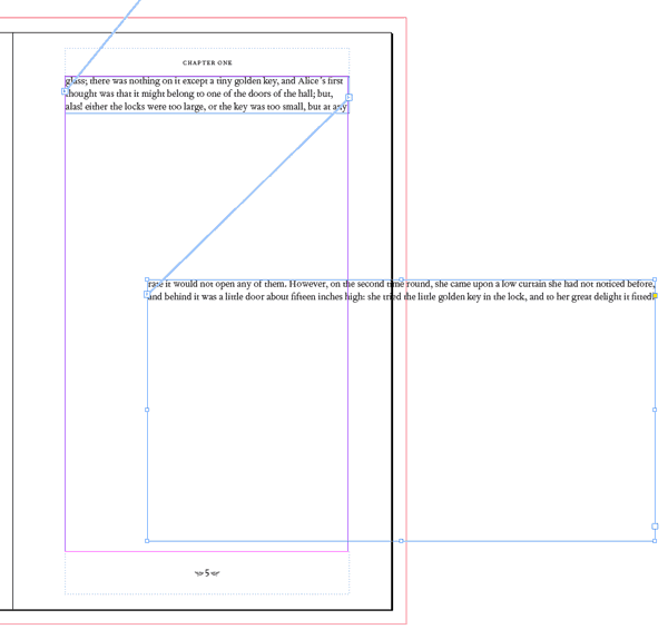 threading text linking text frames text boxes indesign skills