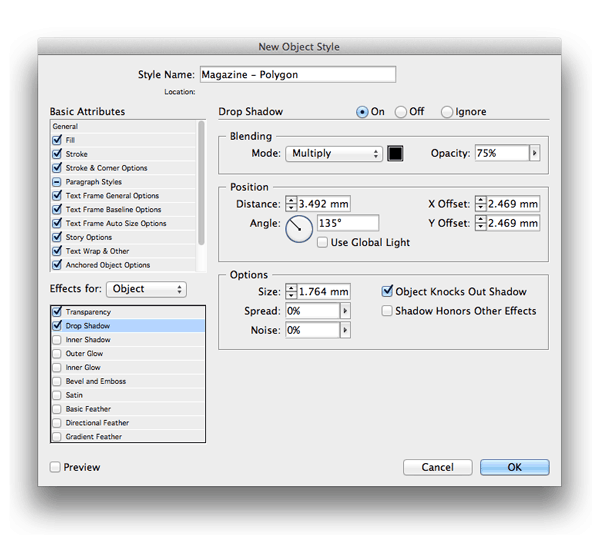 Object Style indesign skills styles