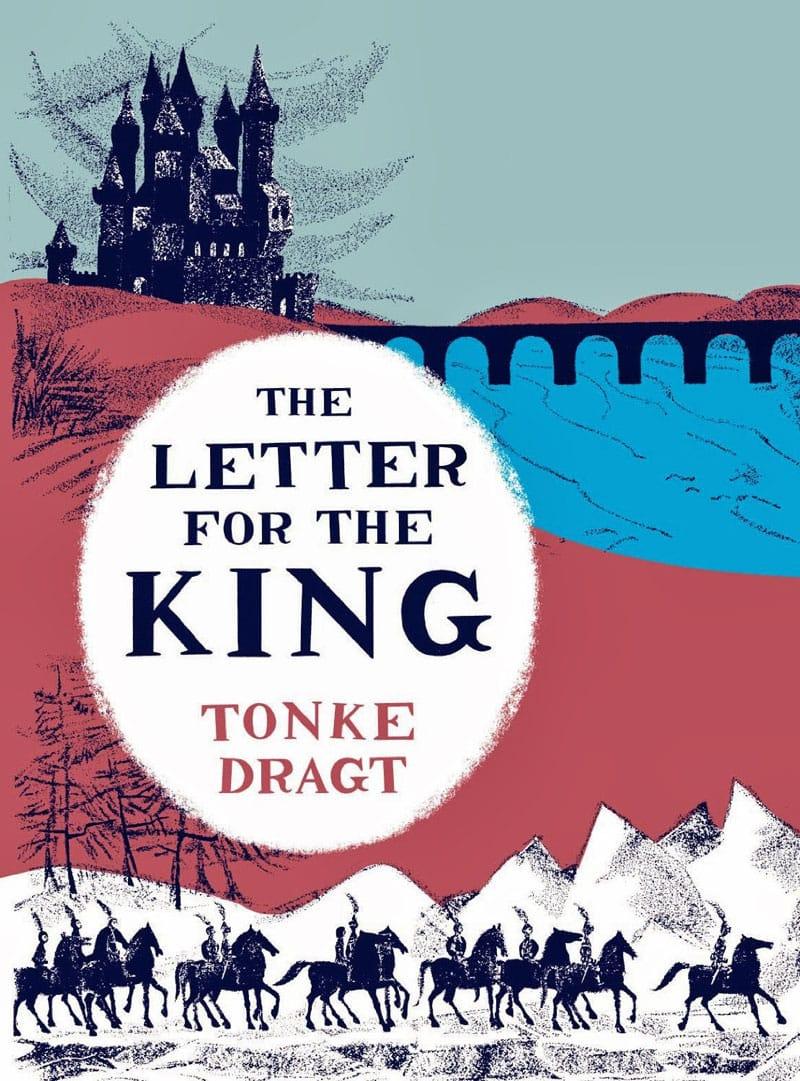 vintage print design book cover pushkin letter for the king tonke dragt