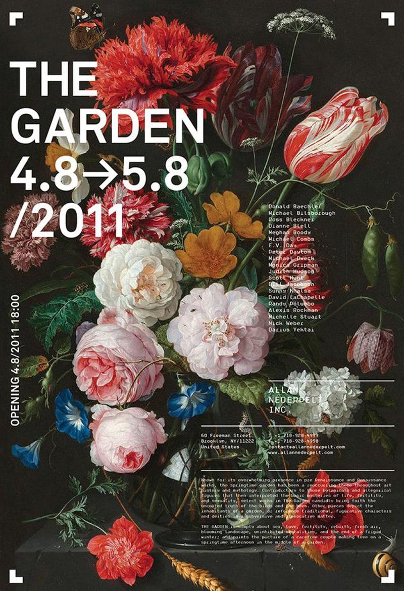 flyer brochure design promotional marketing exhibition allan nederpelt new york