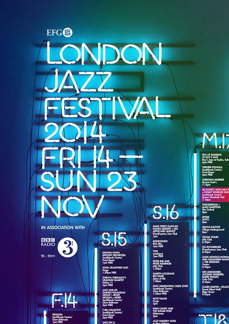 flyer design promotional marketing london jazz festival