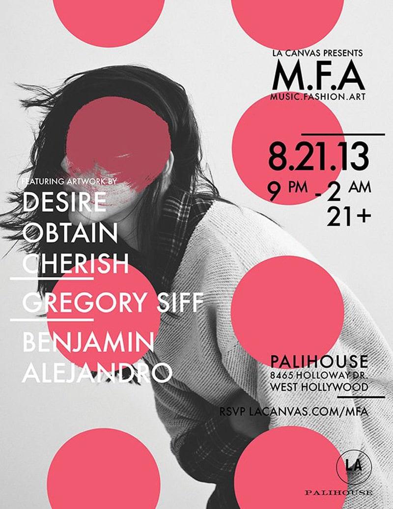 flyer design promotional marketing event la canvas mfa