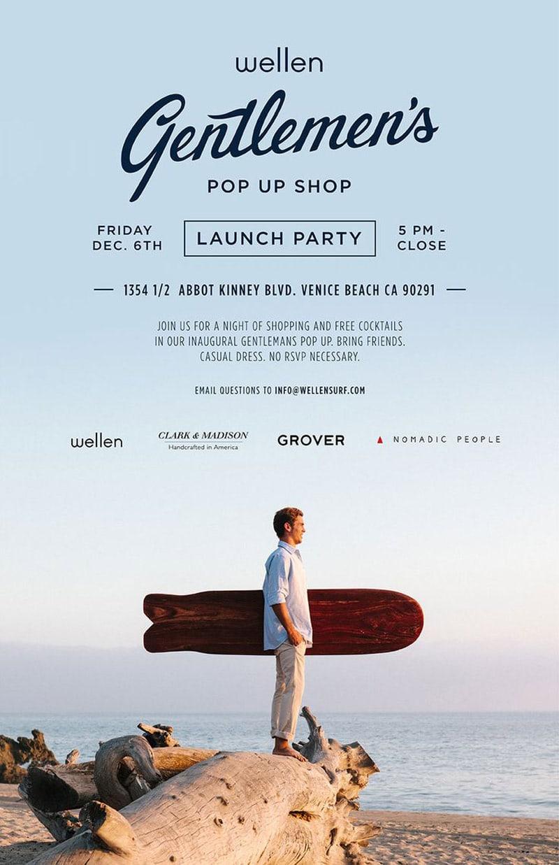 flyer design promotional marketing retail clothing wellen gentleman's