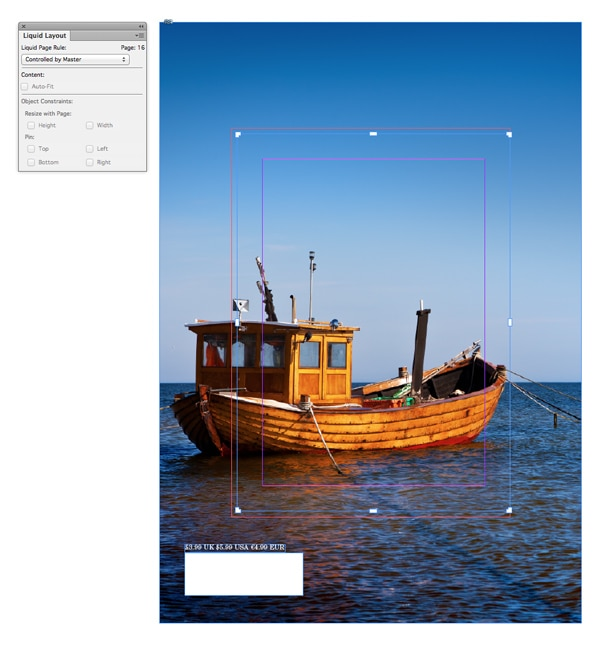 page resize indesign liquid layout
