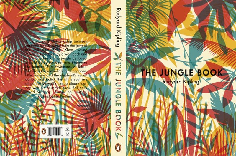 color indesign jungle book vintage print