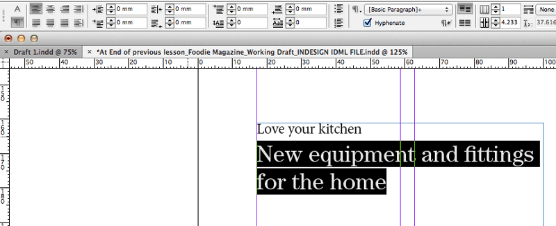 typography indesign paragraph formatting