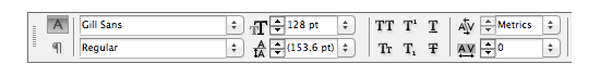 typography indesign character formatting controls panel