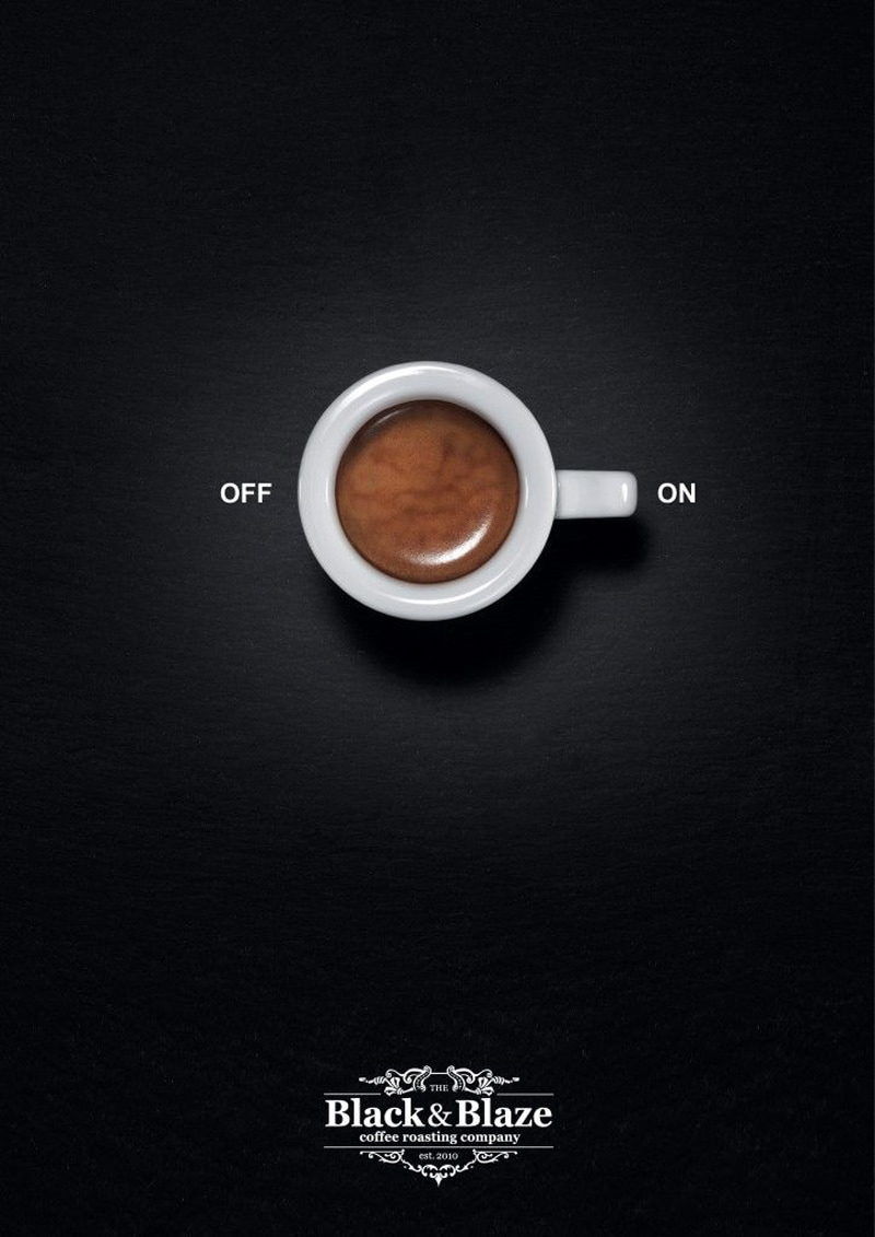 print ad design advertising black&blaze