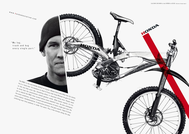 print ad design advertising honda hondamentalism car brand
