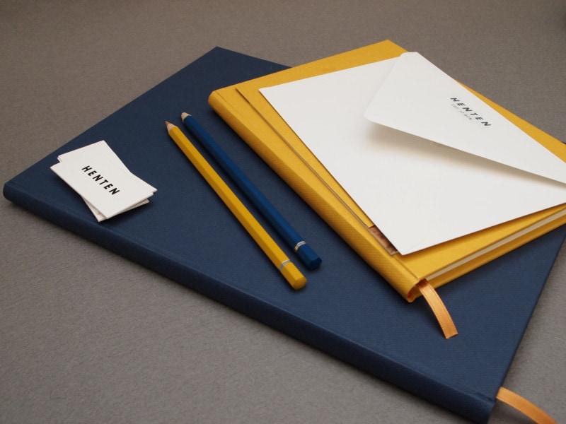 indesign inspiration stationery branding letterhead business card envelope henten