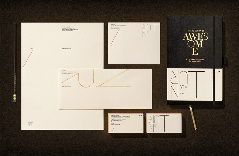 indesign inspiration stationery branding letterhead business card envelope turnstyle agency