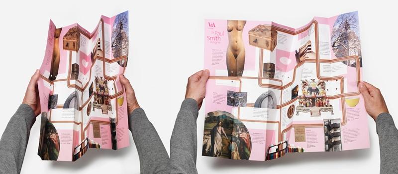 folded origami graphic design indesign maps v&a johnsonbanks