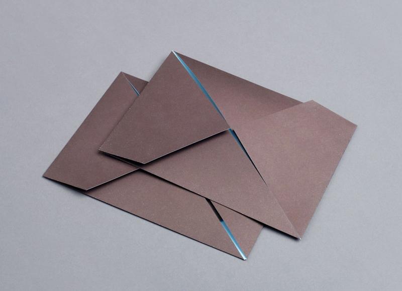 folded origami graphic design indesign menu maaemo bureau bruneau