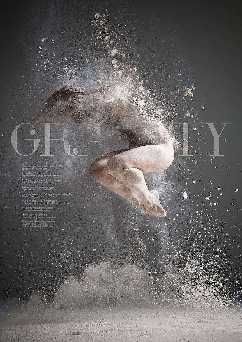 indesign photography layout inspiration photo cool dance poster retoka