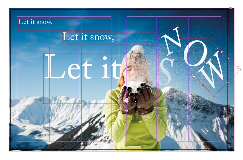 working with photos images indesign layouts photography animated typography