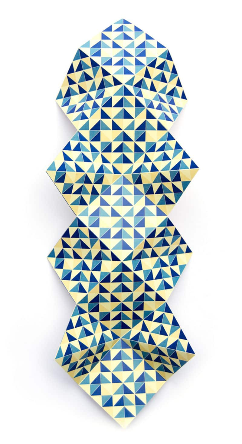 folded origami graphic design indesign calendar studio servaas