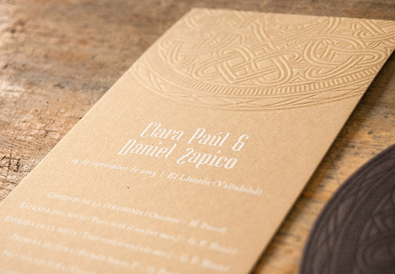 wedding invitations invite stylish unique modern beautiful design unusual unique die cut laser cut el calotipo