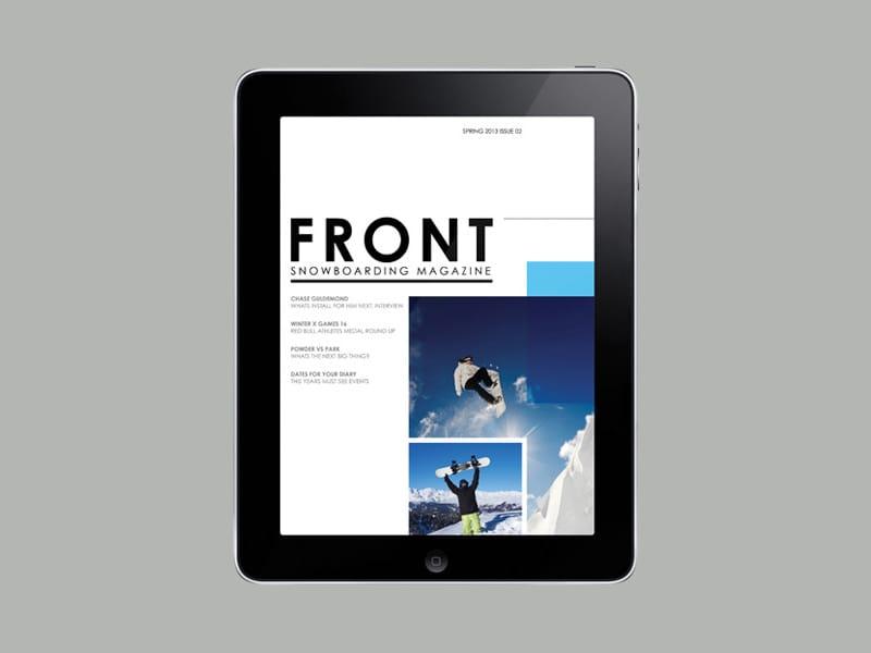 EPUB eBook eMagazine digital publishing design fixed layout eleanor rogers snowboard magazine