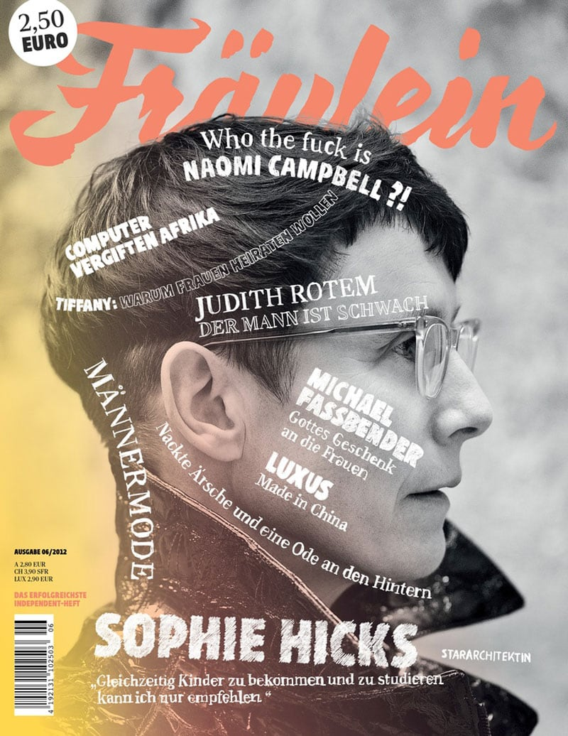 indesign curved text type on a path organic fluid typography fraulein magazine cover design
