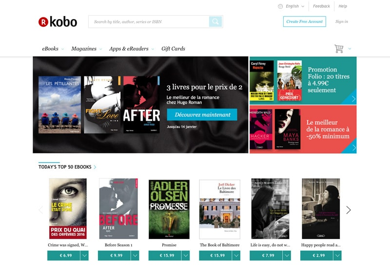 EPUB eBook eMagazine digital publishing design kobo store