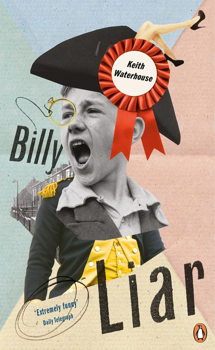 collage print design book cover inspiration penguin billy liar