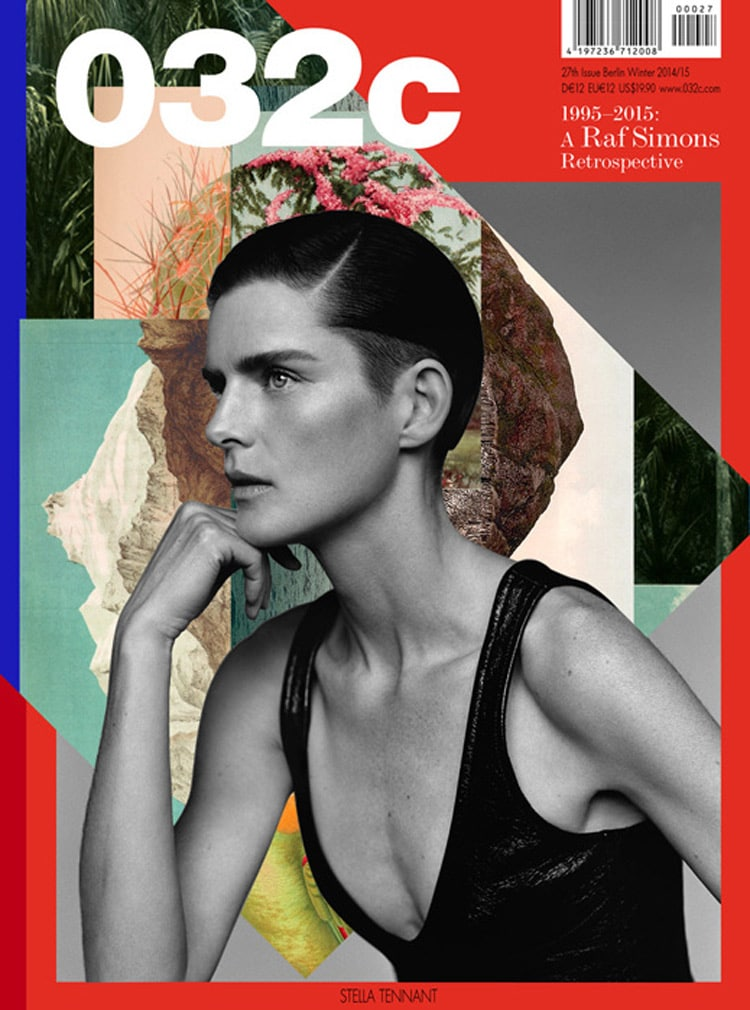 collage print design magazine layout book cover eccentric indesign graphic design inspiration magazine cover rosanna webster 032c stella tennant