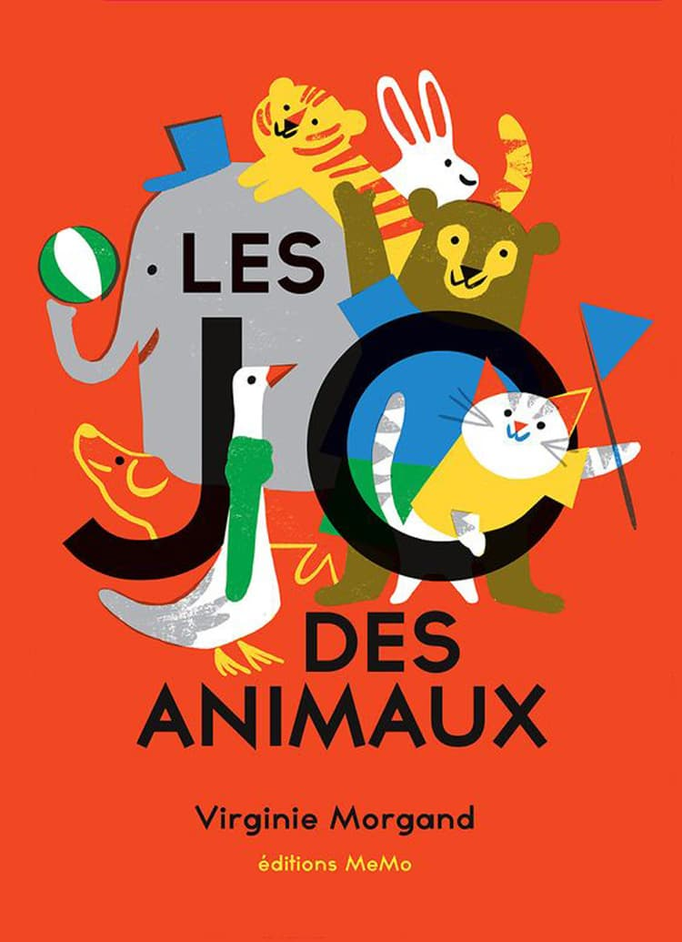 children's book design indesign publishing design book design book covers virgine morgand les JO des animaux
