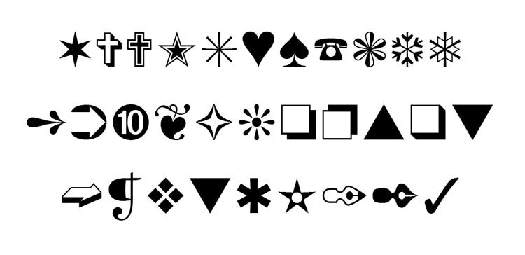 typography secrets fonts with great best glyphs symbols graphics zapf dingbats