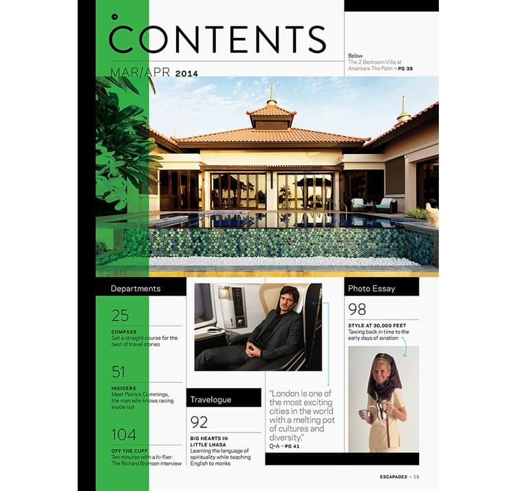 magazine layout design tips indesign contents page