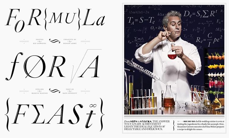 magazine layout design tips indesign bold big typography
