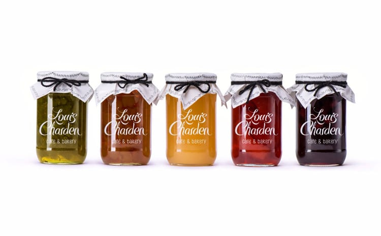 indesign inspiration food packaging design french cafe bakery louis charden backbone brand identity