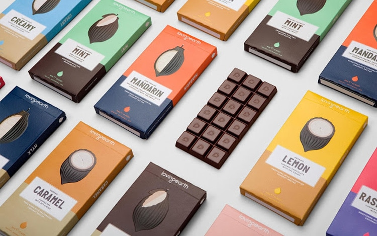 indesign inspiration food packaging design chocolate brand loving earth