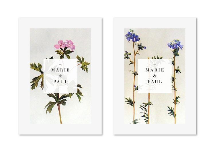 botanical graphic design flowers branding inspiration wedding invites invitations save the date antique vintage