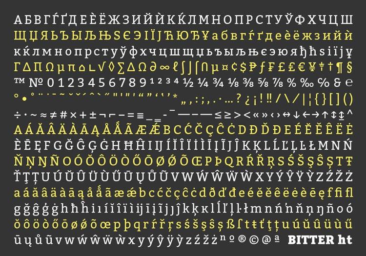 best free fonts business cards resume cv professional serif bitter ht