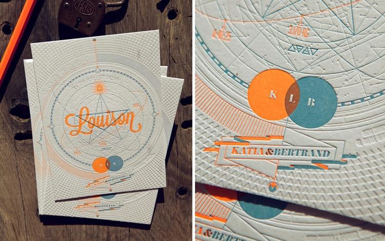 coco rico letterpress invites labels stationery logos modern