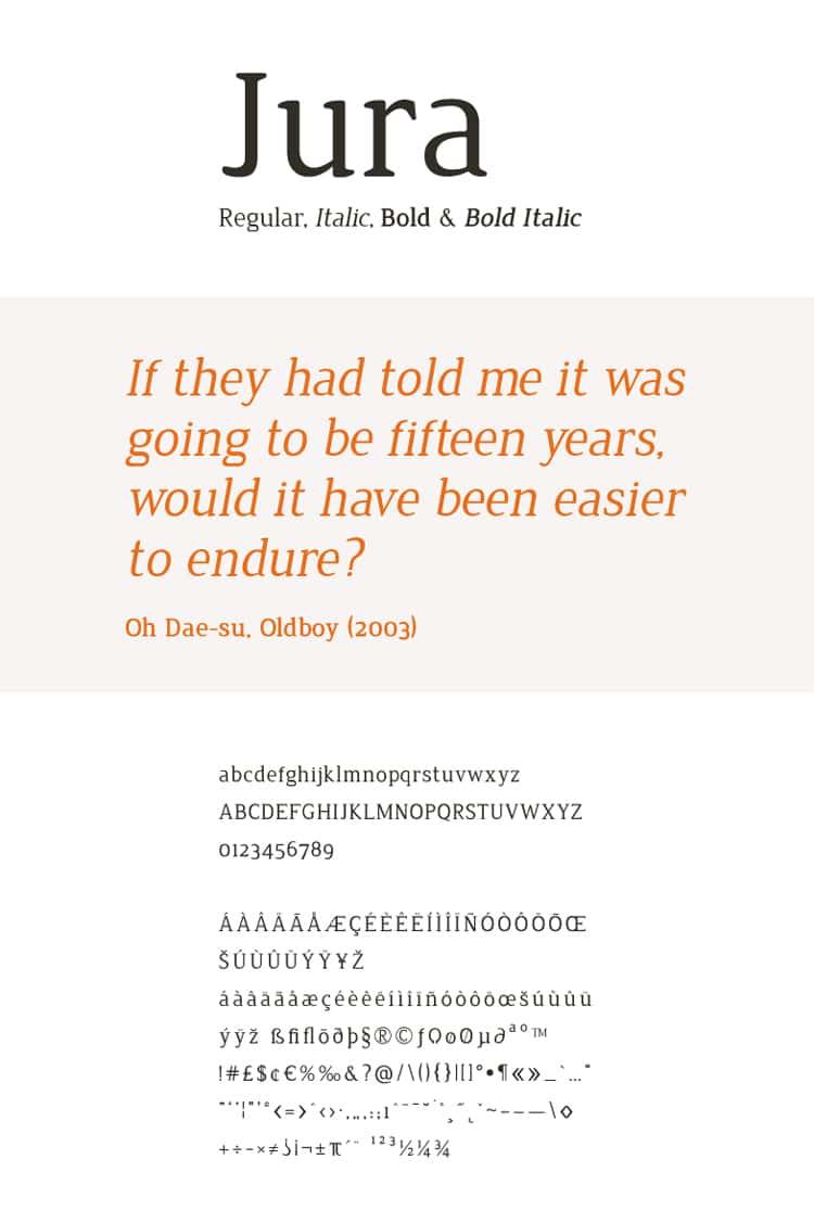 best free fonts business cards resume cv professional sans serif jura