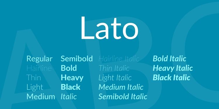best free fonts business cards resume cv professional sans serif lato