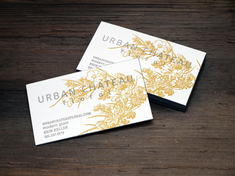 print and grain letterpress business card stationery vintage retro