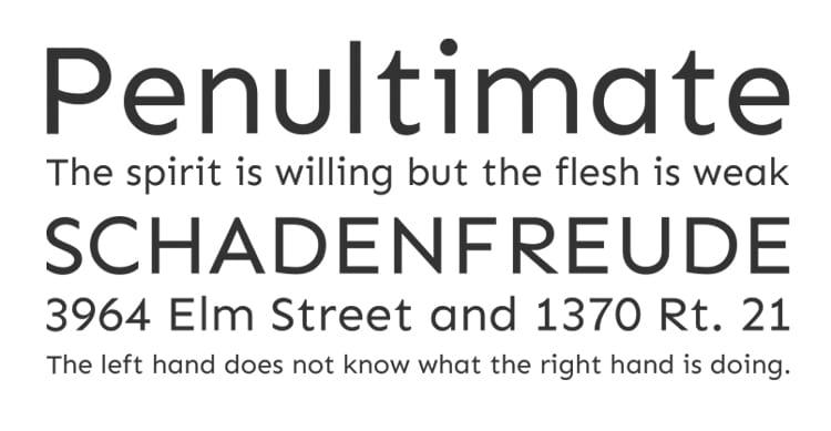 best free fonts business cards resume cv professional sans serif sen