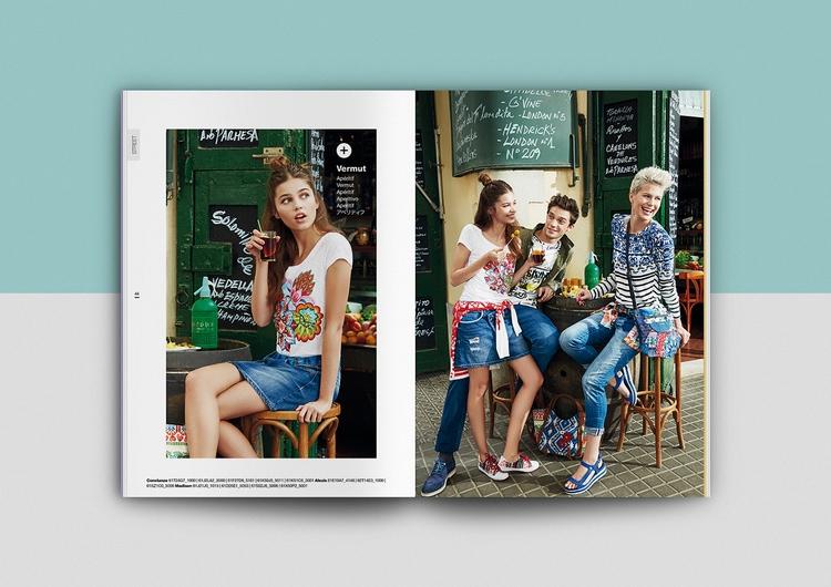 catalogue booklet lookbook design layout inspiration marketing desigual catalogue catalog spring summer fashion