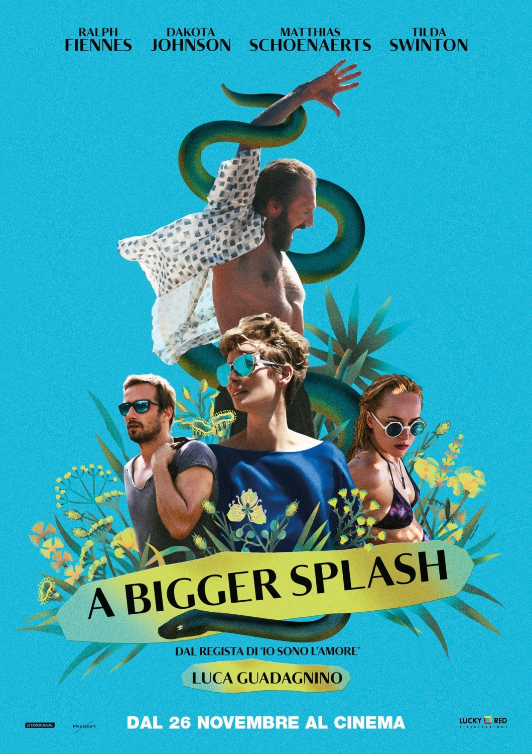 2017 graphic print design trends modern collage movie poster a bigger splash
