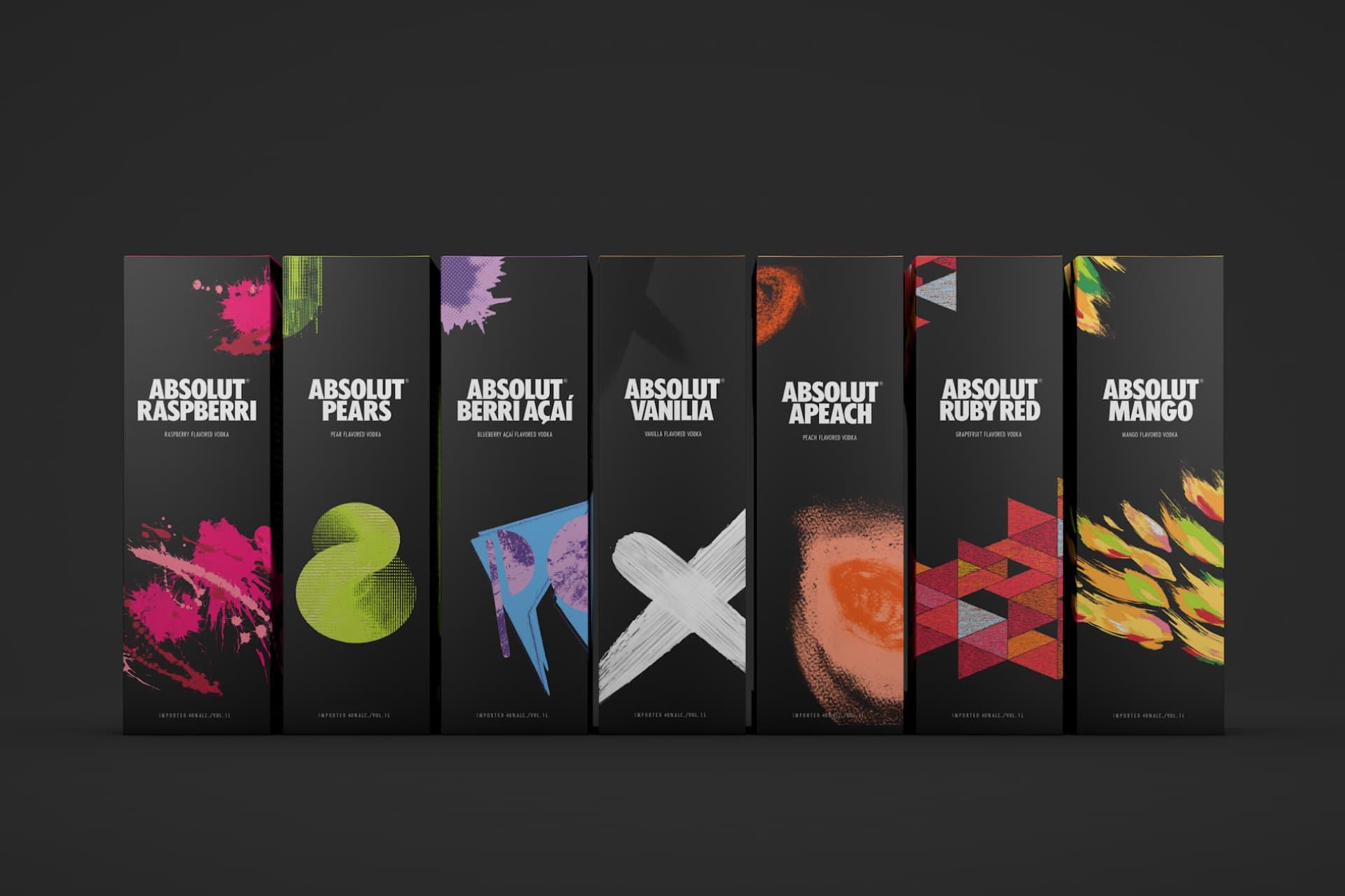 2017 graphic design print design trends eighties design neons absolut vodka packaging design